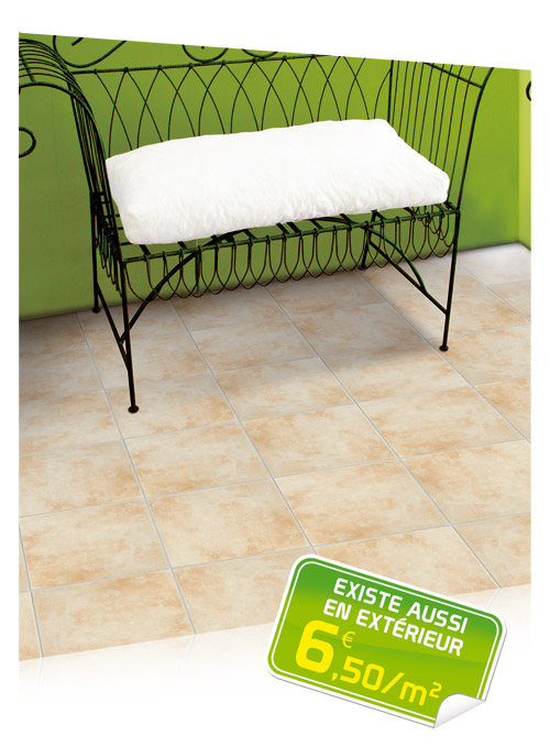 Promo carrelage lapeyre for Lapeyre carrelage sol interieur
