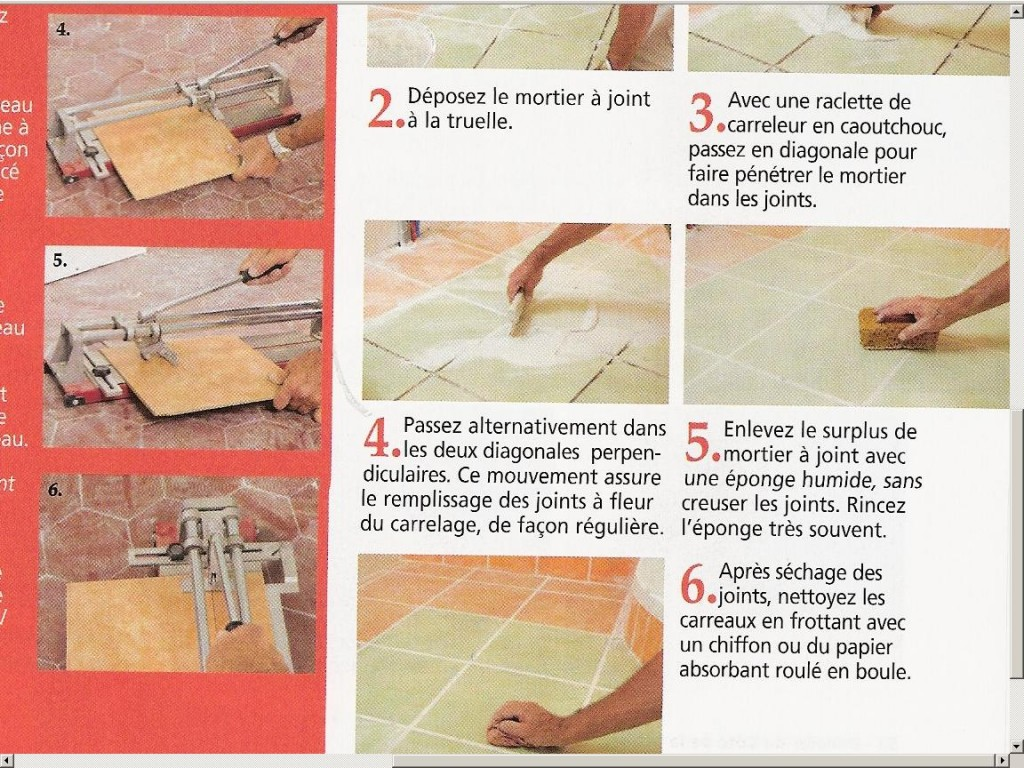 Joints carrelage mortier carrelage - Comment faire des joints de carrelage ...