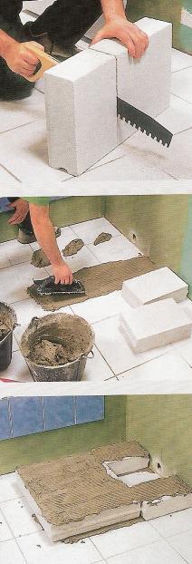 carreaux carrelage poser douche salle de bain