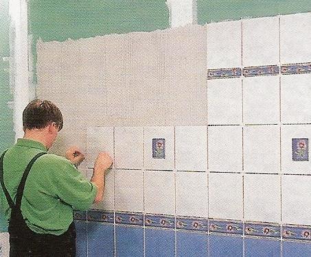 carrelage pose mur mural